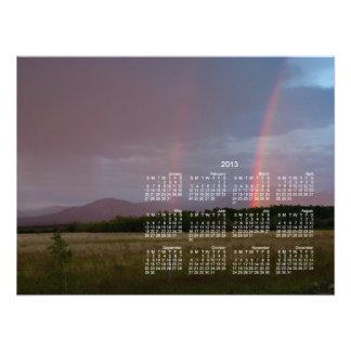 Double Rainbow 2013 Calendar Photo Print