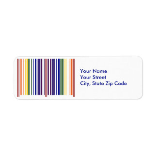 Double Rainbow Barcode return address label