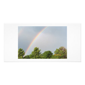 Double Rainbow Customized Photo Card