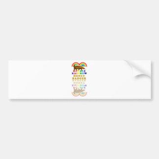 double rainbow honey badger bumper sticker