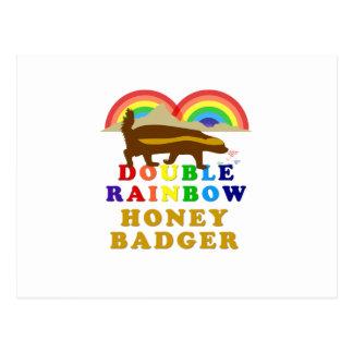 Double Rainbow Honey Badger Postcard