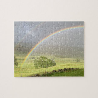 Double rainbow in Glenshee Scotland. Jigsaw Puzzle