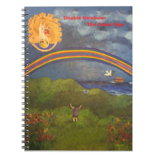 Double Rainbow Mini-Notebook Spiral Notebook