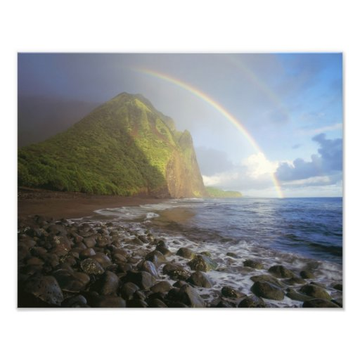Double rainbow over the cliffs of the North Photo