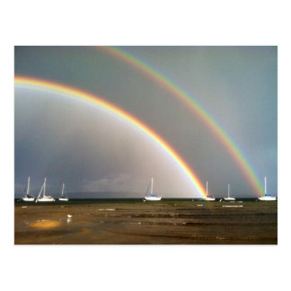 Double Rainbow Over Traverse City Postcard