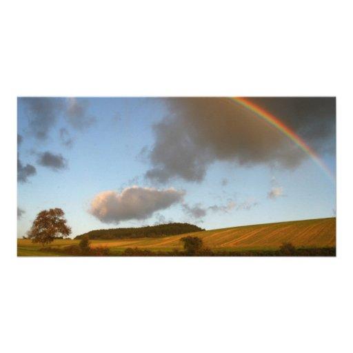 Double Rainbow Painting Photo Cards
