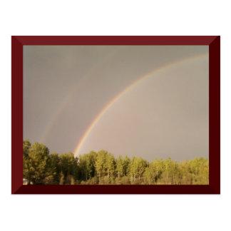 Double Rainbow Postcard