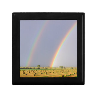 Double Rainbow Small Square Gift Box