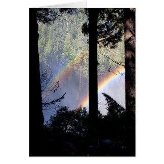 Double Rainbow through Trees Card