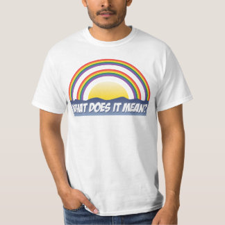 Double Rainbow What Does It Mean? Tshirt