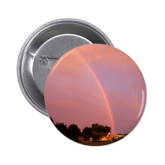 Double Rainbows at Sunset Pinback Buttons