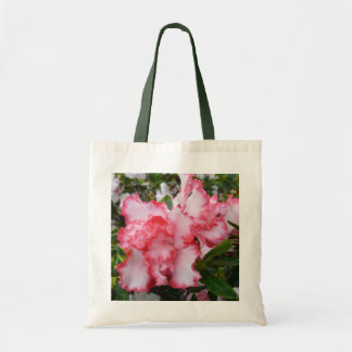 Double Red and White Azaleas Spring Floral Tote Bag