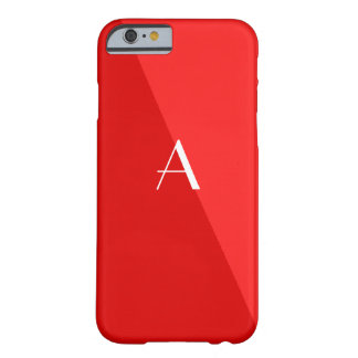 Double Red Monogram iPhone 6 case Barely There iPhone 6 Case