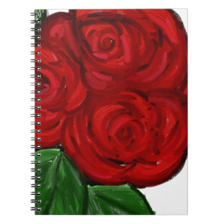 Double Red Rose Notebook