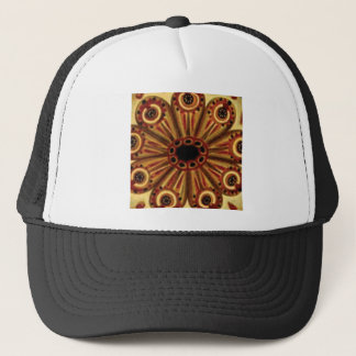 double rings of circles trucker hat