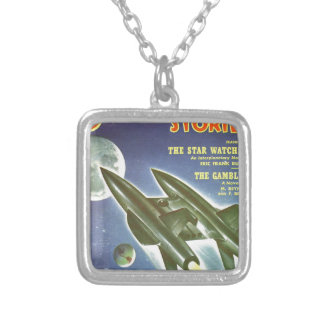 Double Rocket Silver Plated Necklace