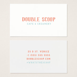 Double Scoop: A Cafe and Creamery Business Card