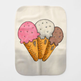 Double Scoop Burp Cloth