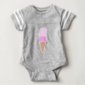 Double Scoop Ice Cream Cone - Pinks Baby Bodysuit