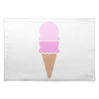 Double Scoop Ice Cream Cone - Pinks Placemat
