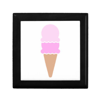 Double Scoop Ice Cream Cone - Pinks Small Square Gift Box