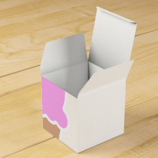 Double Scoop Pink Ice Cream Cone Favour Box