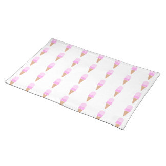 Double Scoop Pink Ice Cream Cone Placemat