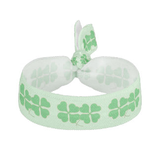 Double Shamrocks Trimmed in Gold Hair Ties