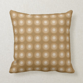 Double Sided Brown Button Throw Cushion Pillow