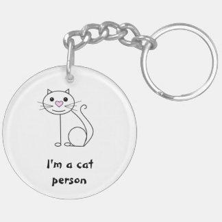 Double sided cat and dog keyring Double-Sided round acrylic key ring