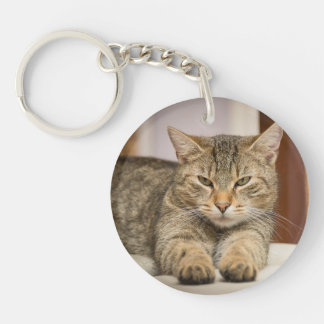 Double Sided Cat Photos Key Chain