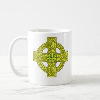 Double sided celtic cross mug, customize variety coffee mug