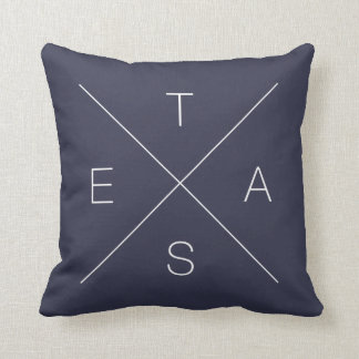 Double Sided Criss Cross X TEXAS Pillow