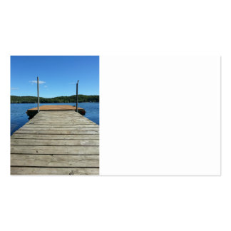 Double-sided Dock Images Pack Of Standard Business Cards