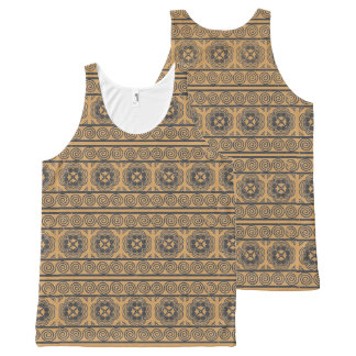 Double-sided Elephant Footprint and Snail Motif All-Over Print Tank Top