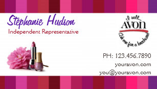 Avon representative business cards zazzle au double sided gender neutral avon business cards reheart Choice Image