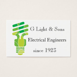 Double sided Light Bulb themed business card