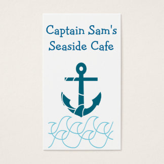 Double sided ocean and anchor themed business card