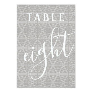 Double Sided Patterned Table Number