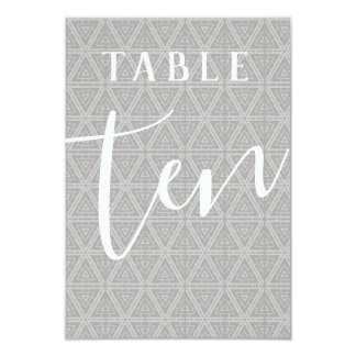 Double Sided Patterned Table Number 10
