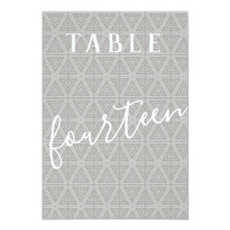 Double Sided Patterned Table Number 14