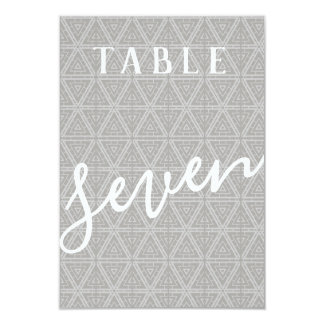 Double Sided Patterned Table Number 7