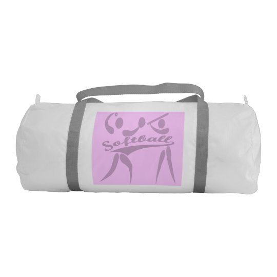Double Sided Pink & Purple Softball Gym Bag