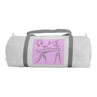 Double Sided Pink & Purple Softball Gym Bag Gym Duffel Bag