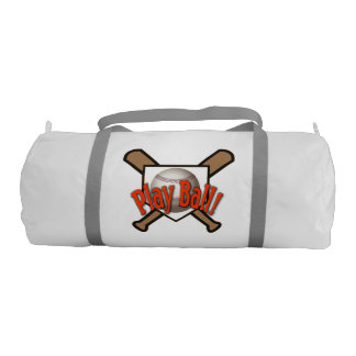 Double Sided Play Ball - Baseball Gym Bag Gym Duffel Bag