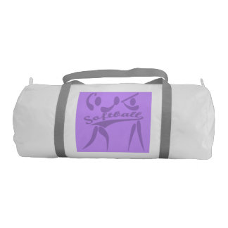 Double Sided Purple Softball Gym Bag Gym Duffel Bag
