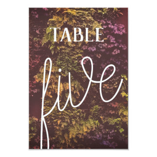 Double Sided Ruby Plants Table Number -5