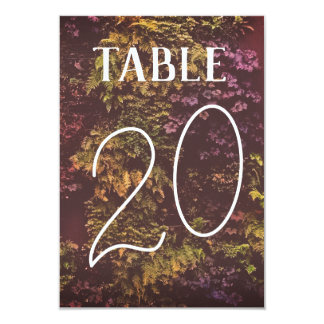 Double Sided Ruby Plants Table Number Bold