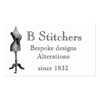 Double sided sewing themed card pack of standard business cards