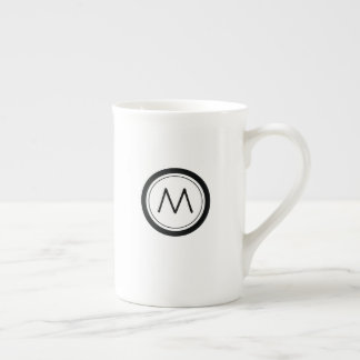 Double Sided Simple Circle Monogram Tea Cup